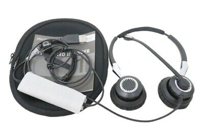 Jabra Biz 2400 II Duo USB Mic Headset 2499-829-309 (NEW OUT OF BOX) for sale  Shipping to India