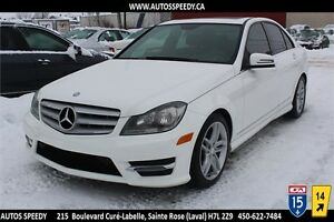 2013 MERCEDES-BENZ C300 4MATIC/AWD 57,260 KM CLEAN CARPROOF