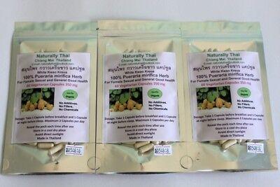 Organic Pueraria mirifica - White Kwao Krua - 350mg x 180 Vegetarian Capsules