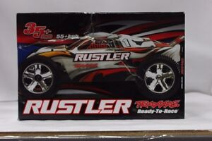 Traxxas 37053-1 Rustler 2WD 1/10 Scale Rc Truck - Red - Like New