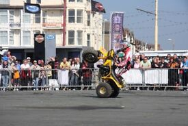 Stunt shows, car stunts, motorcycle display team, fire stunts and much much more..