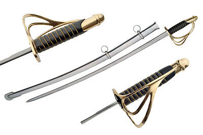 Deluxe M1860 Civil War Army Light Cavalry Saber Sword with Scabbard