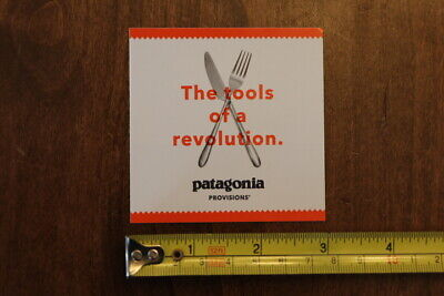 PATAGONIA Provisions STICKER Decal NEW Revolution Tools Fork