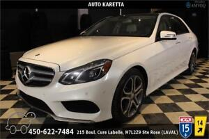 2014 MERCEDES E300 4MATIC/ NAVIGATION, CAMERA, TOIT PANORAMIC