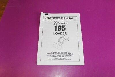 Koyker 185 Loader Owners Manual.