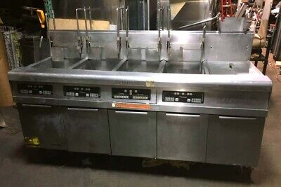 Frymaster 4 Compartment Fryer With Auto Basket Lift And Dump Station