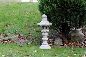 TALL 3PCS PAGODA Chinese Japanese Lantern Stone Garden Ornament Handmade Decor