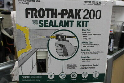 Spray Foam Insulation Kit Dow Froth-pak200 Sealant 200 Board Feet New Shipped