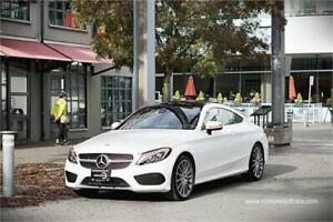 2017 Mercedes-Benz C-Class C 300 coupe 4matic white ONLY 25329 K