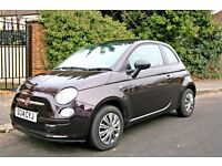 2014 FIAT 500 1.2 POP EDITION ONLY 11K MILES FROM NEW, 1 previous owner lovely dark metalic purple