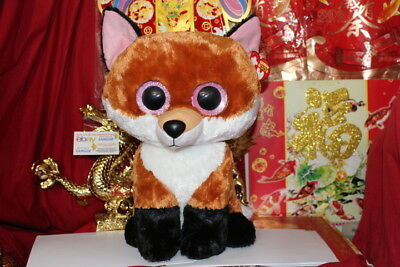 "TY BEANIE BOOS JUMBO SLICK THE FOX.16"".JUSTICE EXCLUSIVE.2015.MWNMT.NICE GIFT"