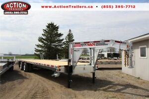 30' N&N GALVANIZED HD DECKOVER EQUIPMENT HAULER - GET IT NOW!