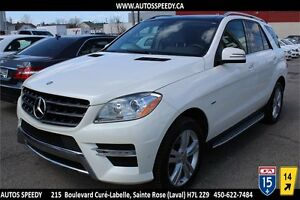 2012 MERCEDES ML350 BLUETEC 4MATIC PREMIUM NAVI, CAMERA, TOIT
