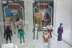 Vintage Star Wars figures all 96 last 17 first 12 all mint at christchurch emporium