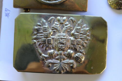 RUSSIAN WW1 waist belt buckle brass
