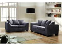 TOP SELLER Brand New Dylan Byron Jumbo Cord Corner Sofa In Grey or Brown, a Footstool or 2+3 Seater