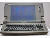 Sharp Font Writer Word Processor