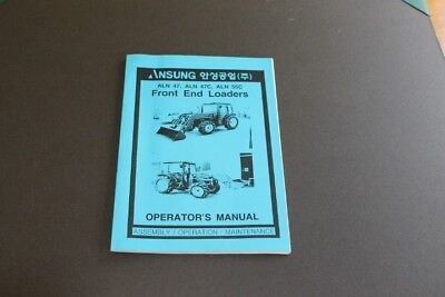 Ansung Front End Loaders Aln 47 Aln 47c Aln 55c Operators Manual.