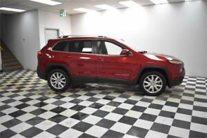 2014 Jeep Cherokee Limited- LEATHER * NAV * BACKUP CAM