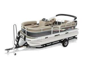 2019 Sun Tracker Party Barge 18 package 75 merc!!
