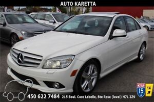 2009 MERCEDES C300 4MATIC/AWD NAVIGATION, TOIT OUVRANT, XENON
