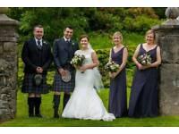 2 x Charcoal Bridesmaid Dresses