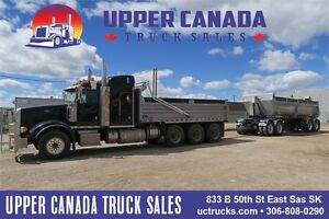 2013 Peterbilt 367 AND 2013 Arnes Quad Dump Wagon
