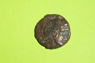 Ancient GREEK COIN kings of macedon PERSEUS 178 BC helmet eagle thunderbolt old