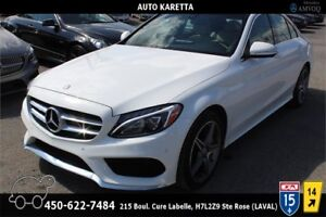 2015 MERCEDES C300 4MATIC  NAVIGATION/CAMERA/TOIT PANORAMIC