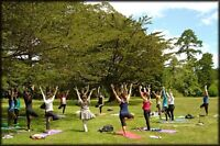 Outdoor Yoga with Catharine Tombs