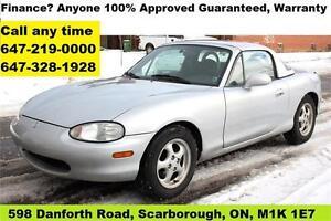 1999 Mazda MX5 Miata 2-Top Convertible AUTO Certified, E-Tested