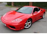 LHD 2001 Ferrari 360 F1 Modena Coupe UK REGISTERED
