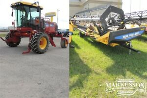 2014 NH SR200 Swather & 36' Header- BELOW COST! - 190HP, 134hrs