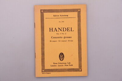 122474 *HANDEL OP 3. NO. 2 CONCERTO GROSSO* Bb major Sib majeur B dur +Abb