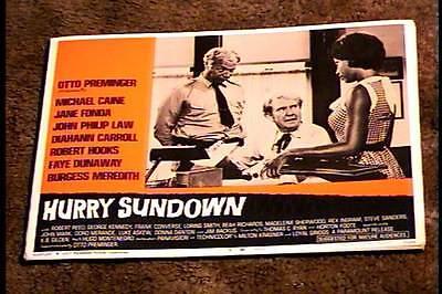 HURRY SUNDOWN 1967 LOBBY CARD #8 BURGESS MEREDITH