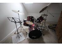 Pearl Export Drum Kit.