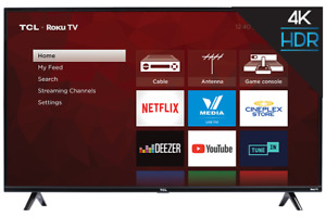 """55"""" TCL 55S425-CA 4K Ultra HD TV. Like new, one month old"""