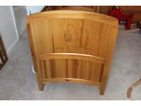 Nursery furniture cot bed wardrobe and chests drawers with changer