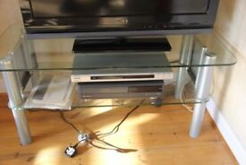 TV Stand - glass and metal. Stylish.