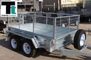 8x5 Heavy Duty Tandem Galvanised Trailer - 2ft Gal Cage Thomastown Whittlesea Area Preview