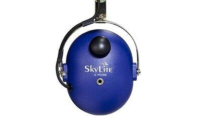 SL-900M Blue SkyLite Aviation GA Headset  Gel Seal Dual Plug with Flight Bag MP3