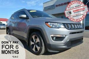 2017 Jeep Compass North- LEATHER, DUAL PANE SUNROOF, REMOTE STAR