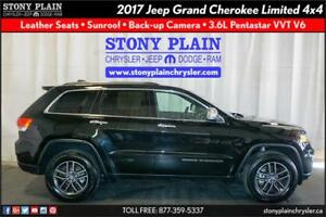 2017 Jeep Grand Cherokee Limited: LEATHER, BU CAMERA, SUNROOF