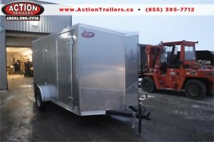 2019 HAULIN 6X12 STEEL CARGO TRAILER W/ BARN DOORS!