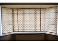 3 Roman Blinds for Bay Window
