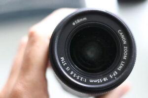 Canon objectif EFS 18 55mm IS STM Lens EFS 18 55mm IS STM