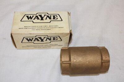 Nos Wayne 1 14 Pipe Size Check Valve Part No. 15537 For Sumpwater Pumps