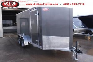 ALL ALUMINUM AMERALITE 7X14 TANDEM CARGO TRAILER W/ BARN DOOR!
