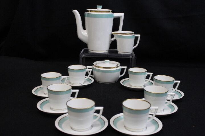 Scarce 21 Pc. Vintage Royal Copenhagen Dybboel Demitasse Coffee Set 1950