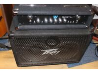 Peavey Bass cab and Warwick Bass amp
